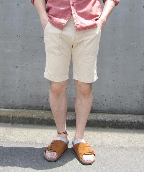 Denime(ドゥニーム)の「COTTON LINEN CORD SHORT PANTS(スラックス)」 オフホワイト