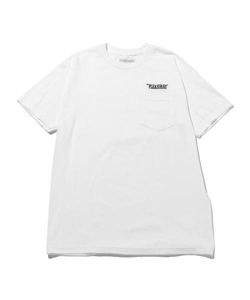 <PLEASURES> LOGO EMBRO TEE/Tシャツ