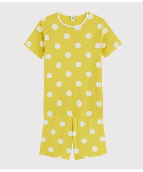 ドットプリント半袖パジャマ