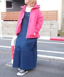 grn(ジーアールエヌ)の<再生産>デニム/バックツイル ジャンパースカート(ジャンパースカート)