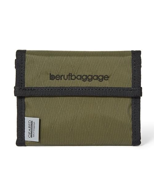 beruf baggage(ベルーフバゲッジ)の「【beruf baggage / ベルーフバゲージ】【GEARED】HANDY WALLET ハンディ ウォレット 2つ折り財布(財布)」|オリーブドラブ
