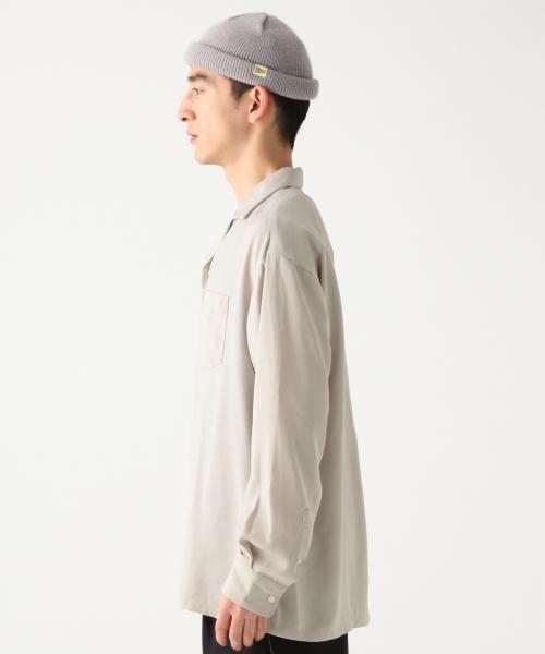 サテンオープンカラーシャツ/825723