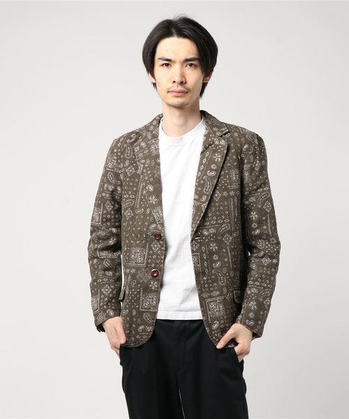 綿麻 テーラードジャケット