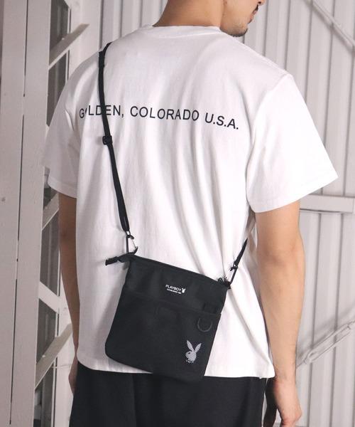【PLAYBOY/プレイボーイ】縦型サコッシュ PB-010 DYS