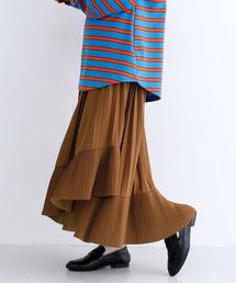 merlot(メルロー)の2段プリーツアシメスカート2002(スカート)