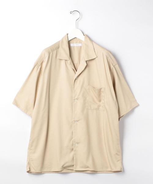 『 BRACTMENT ( ブラクトメント ) 』 レーヨン ツイル オープンカラー 半袖 シャツ