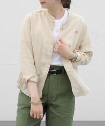 DANTON/ダントン リネンスタンドシャツ LINEN STAND SHIRTS JD-3606KLS(ウィメンズ)ベージュ