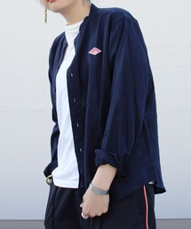 DANTON/ダントン リネンスタンドシャツ LINEN STAND SHIRTS JD-3606KLS(ウィメンズ)ネイビー