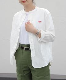 DANTON/ダントン リネンスタンドシャツ LINEN STAND SHIRTS JD-3606KLS(ウィメンズ)ホワイト