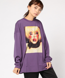 Courtney Love/C LOVE プリント ビッグTシャツ