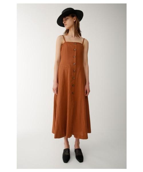 MOUSSY(マウジー)の「BUSTIER DRESS(ワンピース)」|オレンジ系その他