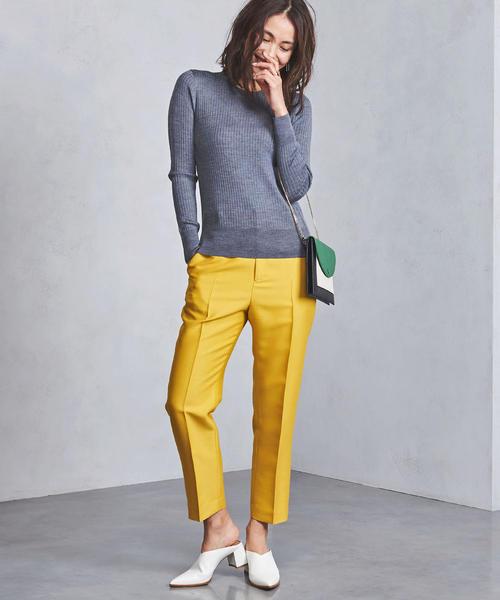 UBCS カラー テーパード パンツ