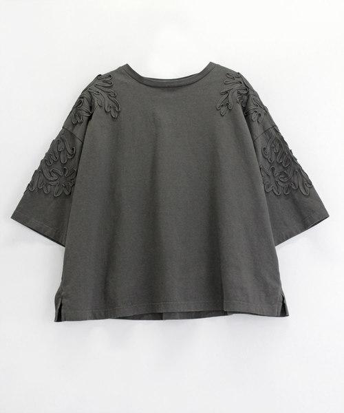 M1147 コード刺繍Tシャツ