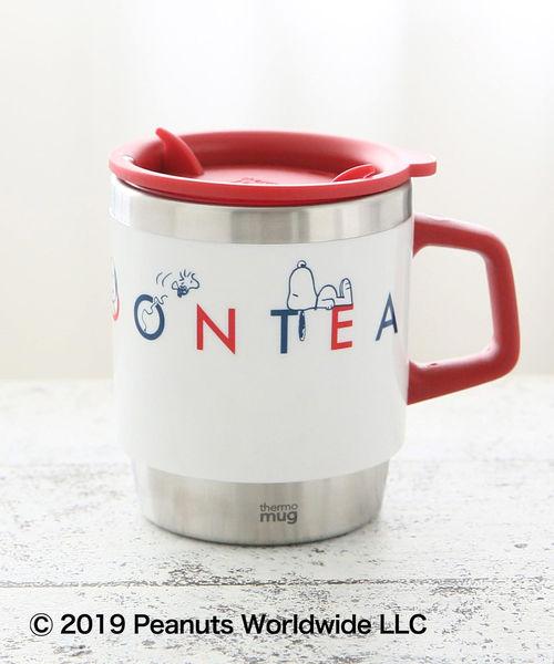 Afternoon Tea(アフタヌーンティー)の「PEANUTS/ステンレスマグカップ(グラス/マグカップ/タンブラー)」 レッド