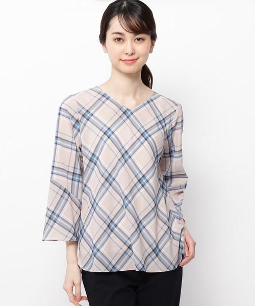 【当店一番人気】 【洗える】チェックブラウス, ワイシャツのトレンドスタンダード ab7abc6b