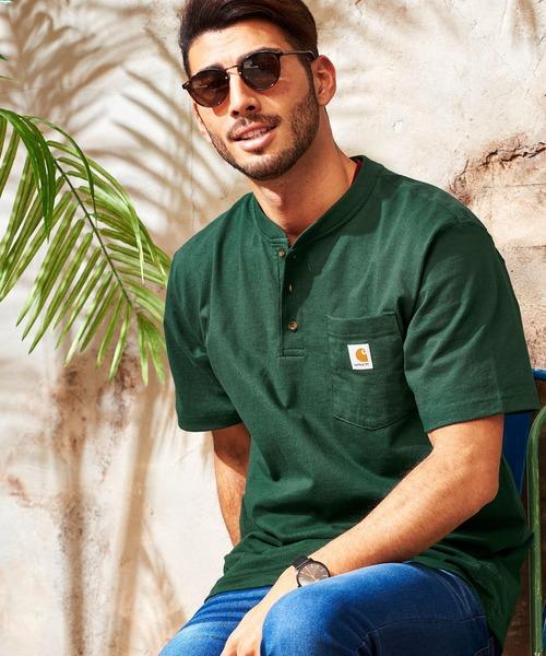 Carhartt/カーハート ヘンリーネックポケット半袖Tシャツ/Workwear Pocket Short-Sleeve Henley