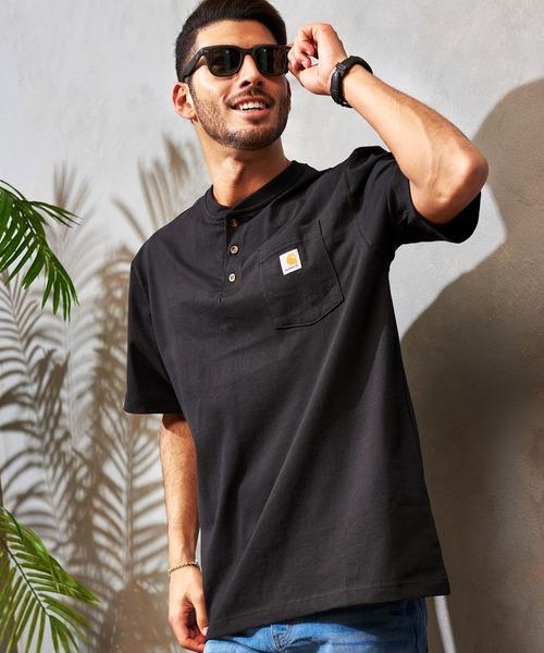 Carhartt/カーハート ヘンリーネックポケット半袖Tシャツ
