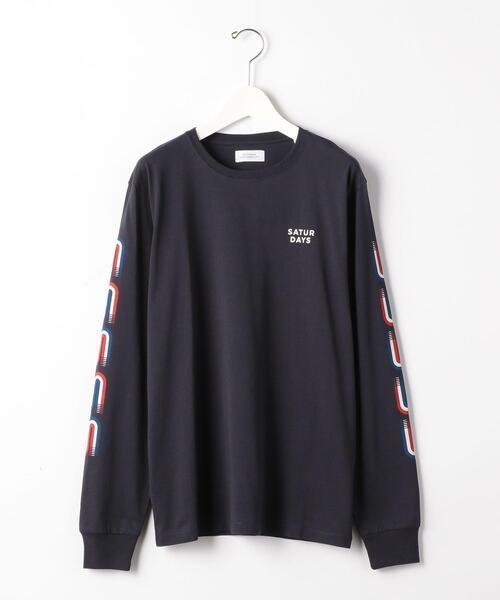 [ サタデーズ NYC ] SC ★ Saturdays NYC ストライプド S 長袖 Tシャツ