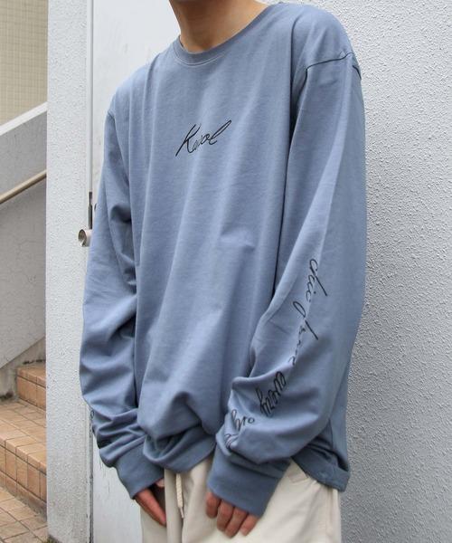 KANGOL(カンゴール)の「【別注・コラボ】ZIP FIVE × KANGOL ビッグロングTシャツ【ユニセックス】(Tシャツ/カットソー)」|ブルー系