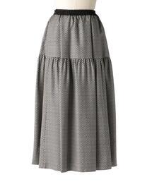 <Drawer(ドゥロワー)> シルクツイルフレアスカート