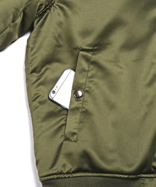 裏ボアサテンMA-1ジャケット