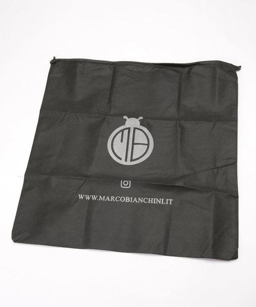 MARCO BIANCHINI/別注ショルダー付バンブーハンドルバイカラーバッグ