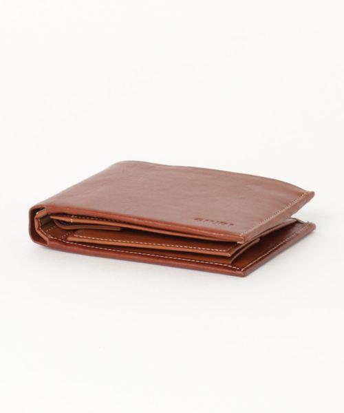 イタリア製ガビアーノレザー二つ折り財布