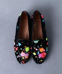 <STUBBS & WOOTTON(スタブス アンド ウートン)>PAINT SLIPPER シューズ