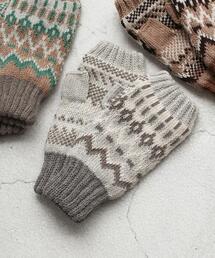 ジャカードノルディックフィンガーレスグローブ(手袋)