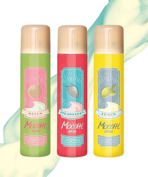 モッチスキン吸着泡洗顔フルーツシリーズ3点セット(レモン·イチゴ·メロン)