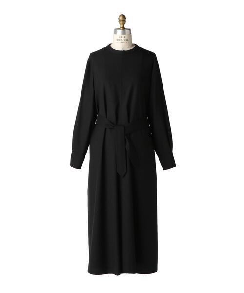 < Scye(サイ)> WOOL BELTED DRESS