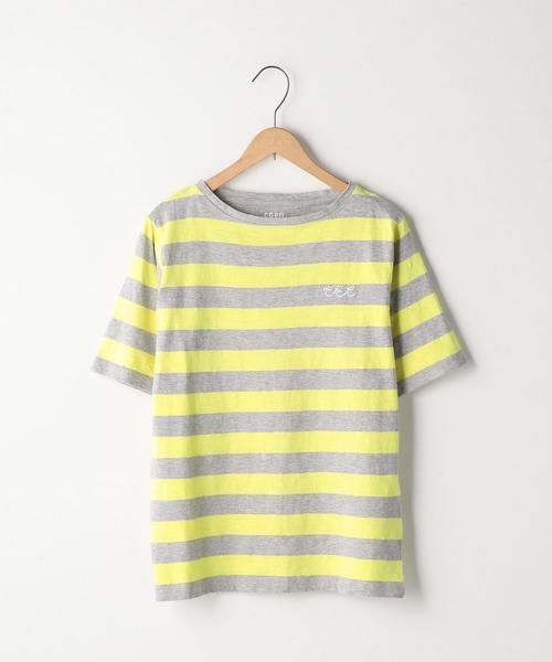 起毛スラブボーダーTシャツ