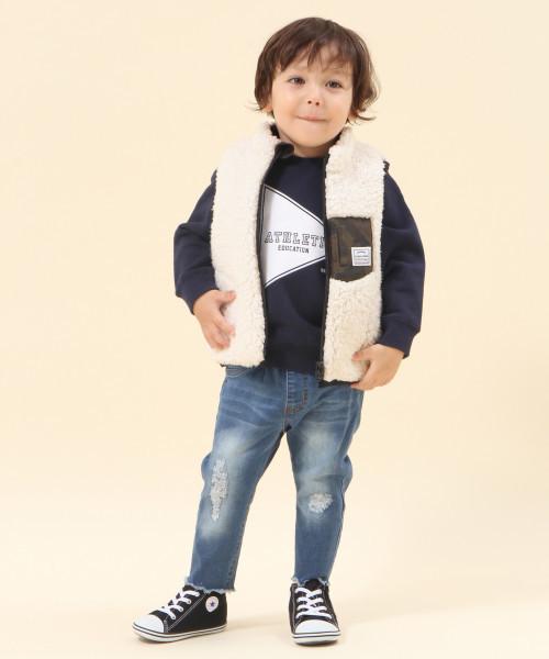 【BABY】リバーシブルベスト/802941