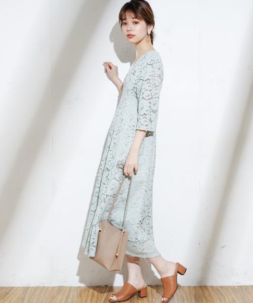 09e36bfb494ec natural couture(ナチュラルクチュール)のフラワーレースレディワンピース(ワンピース)