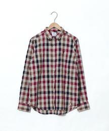 ウィンターリネンチェックシャツ