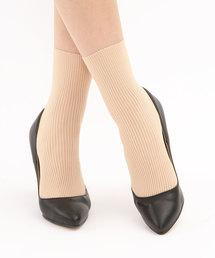 靴下屋(クツシタヤ)の靴下屋/ ラッセルリブショートソックス 22〜25cm(ソックス/靴下)