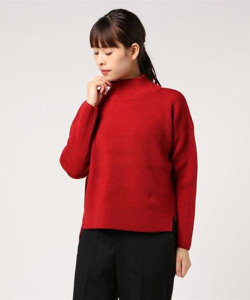 柔らかな質感の HIGH NECK ET SLIT NECK SWEATER 8GG AZE(ニット/セーター) SWEATER|Vincent et Mireille(バンソンエミレイユ)のファッション通販, 新宮市:e3780f13 --- bebdimoramungia.it