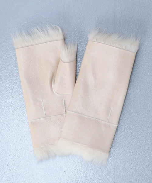 <ONAR>MOUTON FINGERLESS GLOVES/グローブ.