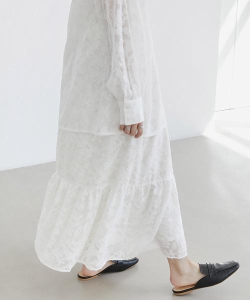 【EMMA】シアージャガードティアードスカート