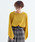 merlot(メルロー)の「パフスリーブニットプルオーバー1867(ニット/セーター)」|イエロー