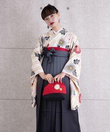 utatane(ウタタネ)の袴セット ベージュの矢絣と菊(着物/浴衣)
