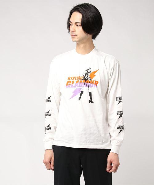 ELECTRIC LADY リブ付Tシャツ