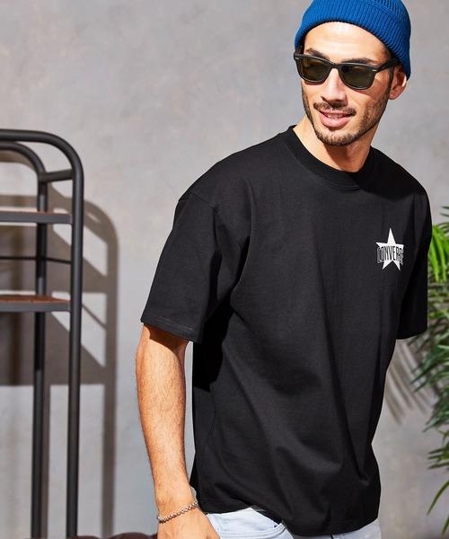 CONVERSE/コンバース 【BARK MANHATTAN別注】フロントロゴ&バックプリントオーバーサイズ半袖Tシャツ