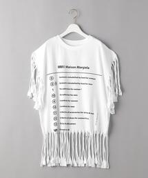 <MM6 Maison Martin Margiela>フリンジTシャツ Ψ