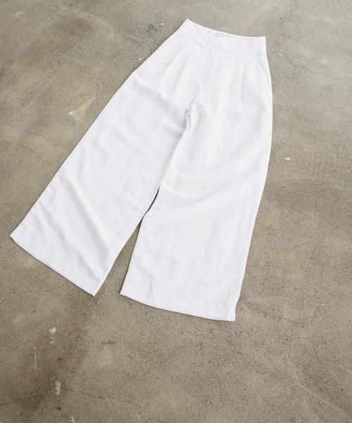 front tack linen pants