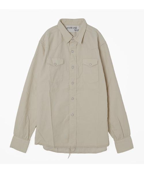 WHITE LINE別注 コーデュロイウエスタンシャツ