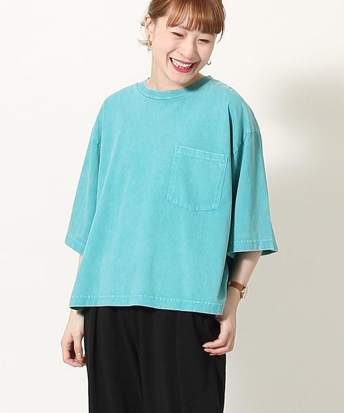 Sulphur dyes ワイドTシャツ