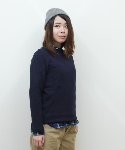 TIEASY / ティージー オーガニックボートネックバスクシャツ ORGANIC BOATNECK BASQUE SHIRT