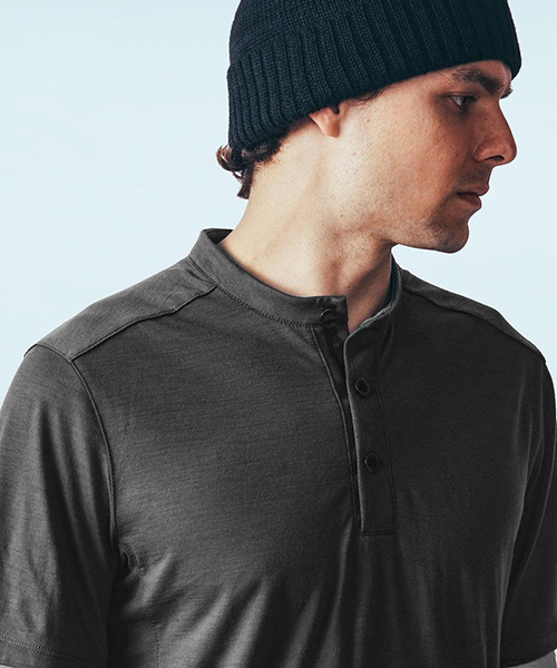 【MISSION WORKSHOP】The District Henley Core Nylon Wool