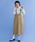 merlot(メルロー)の「コットンワークサロペットスカート2167(サロペット/オーバーオール)」|ベージュ